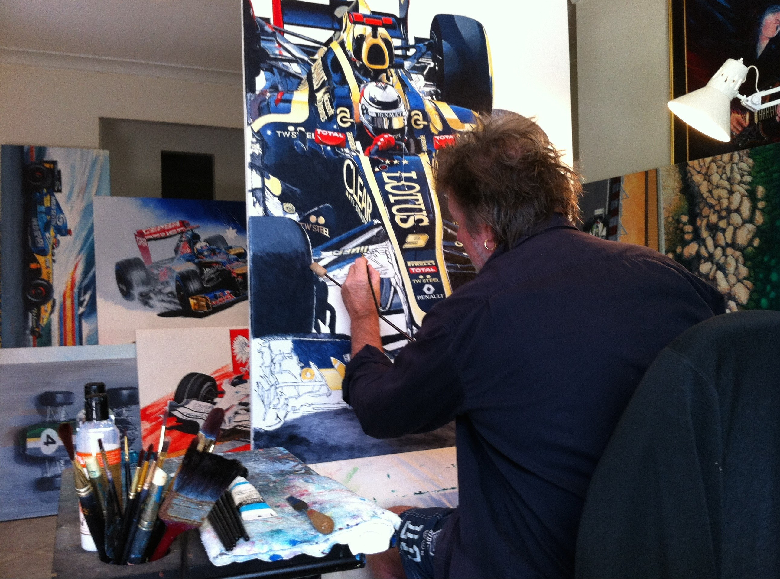 Gary Speak Working in the Studio