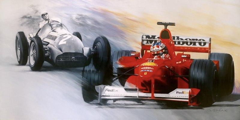 F1 Painting of 50 Year Farina Schumacher